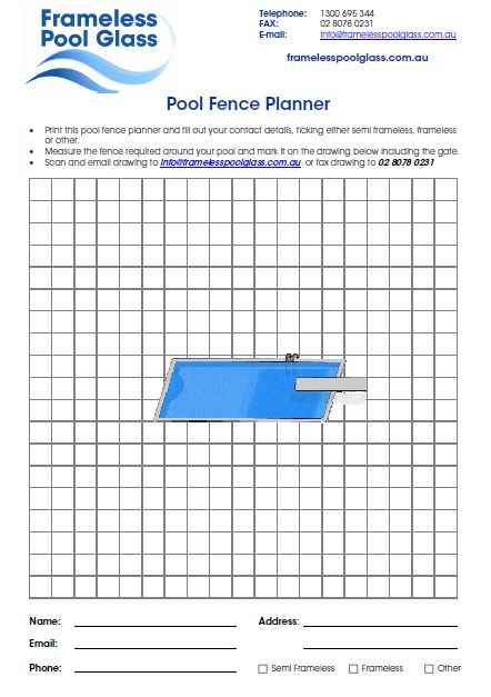 Download the Pool Fence Planner