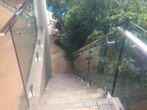 External Stairs with frameless glass balustrade